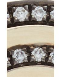 Noor Fares - Gray Black Gold And Diamond Tilsam Eternity Step Ring - Lyst