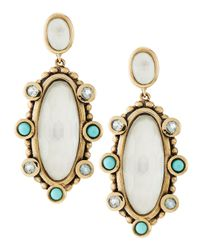 Stephen Dweck | Turquoise & Blue Topaz Rock Crystal Drop Earrings | Lyst