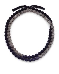 Eileen Fisher - Blue Doublestrand Beaded Necklace - Lyst