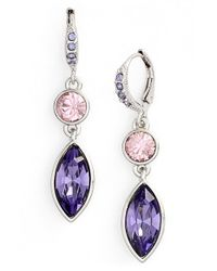 Givenchy | Purple 'crescent' Drop Earrings | Lyst