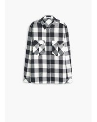 Mango | Black Check Cotton Shirt | Lyst