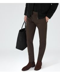 Reiss | Brown Maybury Slim-fit Chinos for Men | Lyst