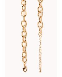 Forever 21 - Metallic Posh Chunky Bib Necklace - Lyst
