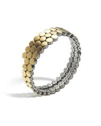 John Hardy - Yellow Dot Double Coil Bracelet - Lyst