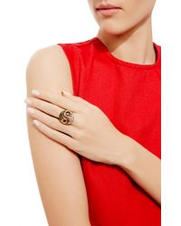 Genevieve Jones - Black Leora Yin And Yang Ring With Stones In Antique Setting - Lyst