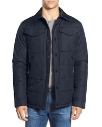 The North Face - Blue 'patrick's Point' Quilted Shirt Jacket for Men - Lyst