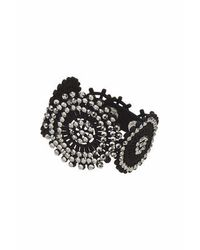 TOPSHOP | Metallic Rhinestone Cut-out Bracelet | Lyst