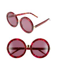 Wildfox - Purple 'malibu' 56mm Round Sunglasses - Cider/ Gold/ Rose Solid - Lyst