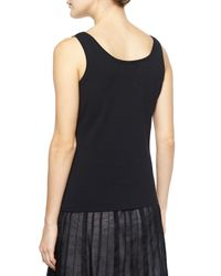 NIC+ZOE | Black Perfect Jersey Scoop-neck Tank | Lyst