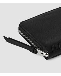 AllSaints - Black Club Leather Coin Purse - Lyst