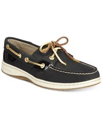 Sperry Top-Sider | Black Women's Bluefish Linen Oat Boat Shoes | Lyst