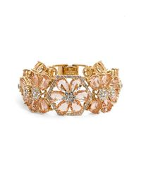 kate spade new york | Pink 'at First Blush' Crystal Bracelet | Lyst