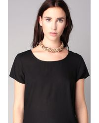 Pieces - Metallic Necklace / Longcollar - Lyst