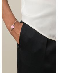 Marc By Marc Jacobs - Pink Logo Disc Bracelet - Lyst