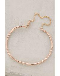 Phyllis + Rosie - Pink Chained Cuff Bracelet - Lyst