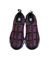 Marni - Blue Variation On 's Sneaker In Checkered Fabric - Lyst