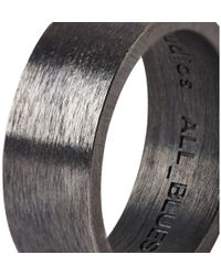 Acne Studios - Metallic Oxidized Sterling Silver Ring for Men - Lyst