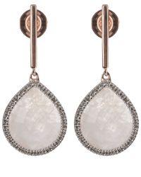 Monica Vinader | Pink Rose Diva Lotus Drop Earrings | Lyst