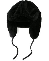 Paul Smith - Black Shearling Hat for Men - Lyst