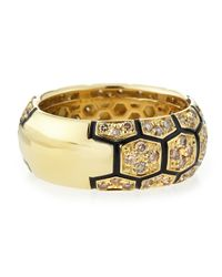 Roberto Coin - Metallic 18k Diamond Turtle Ring - Lyst