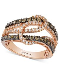 Le Vian - Pink Diamond Interlocking Knot Ring In 14k Rose Gold (1 Ct. T.w.) - Lyst
