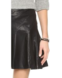 Free People - Black About A Girl Faux Leather Skirt - Lyst