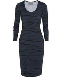 Preen By Thornton Bregazzi | Blue Avery Printed Stretch-Jersey Dress | Lyst