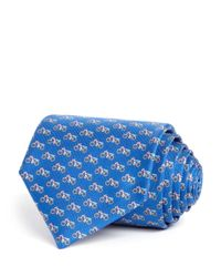Ferragamo - Blue Motorcycle Classic Tie for Men - Lyst