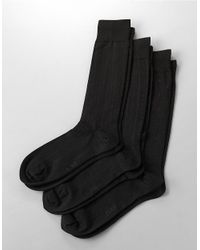Polo Ralph Lauren | Black 3-pack Dress Socks for Men | Lyst