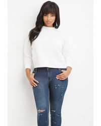 Forever 21 | White Plus Size Raw-cut Pullover | Lyst