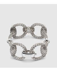 Gucci | Metallic Sterling Silver Horsebit Light Bracelet for Men | Lyst