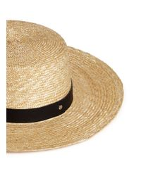 Janessa Leone | Natural 'klint' Leather Band Straw Panama Hat for Men | Lyst