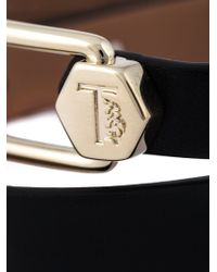 Tod's - Black Metal Pin Wrap Bracelet - Lyst