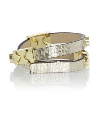 Biba | Metallic Double Wrap Cuff | Lyst