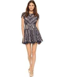 StyleStalker - Blue Vivid Circle Dress - Lyst
