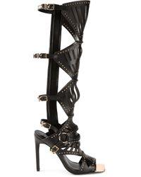 Ivy Kirzhner | Black Venezian Laser Cut Sandals | Lyst
