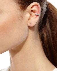 Anita Ko | Metallic 18k White Gold Diamond Double-row Ear Cuff | Lyst