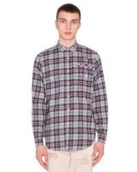 Stampd | Blue Plaid Flannel Button Down for Men | Lyst