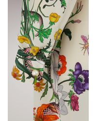 Gucci - Black Flora Snake Print Long Shirt - Lyst