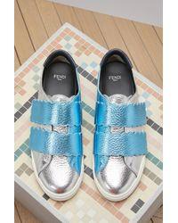 Fendi | Blue Biscuit Sneakers | Lyst