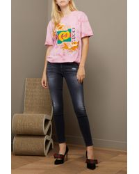 Gucci | Pink Fish Embroidered Cotton T-shirt | Lyst