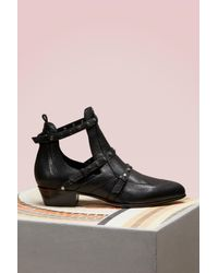 3ac4f0973c2c Lyst - Jimmy Choo Harley 30 Textured Leather Cut Out Booties in Black