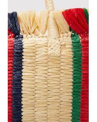 Gucci - Multicolor Cestino Straw Tote - Lyst