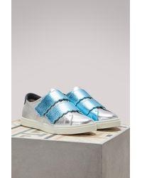 Fendi - Blue Biscuit Sneakers - Lyst