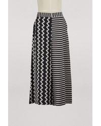 a9a01d15e93a Stella McCartney Zigzag & Stripe Mixed-print Wide-leg Silk Culotte ...