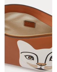 Loewe - Brown Cat T Pouch - Lyst