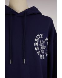 PUMA - Blue Long Sleeve Back Lacing Hoodie - Lyst
