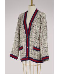 Gucci - Multicolor Crystal And Tweed Jacket - Lyst