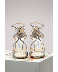 Jimmy Choo - Multicolor Lang 100 Mirror Leather Sandals - Lyst