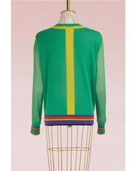 Diane von Furstenberg - Green Knit Pull Over - Lyst